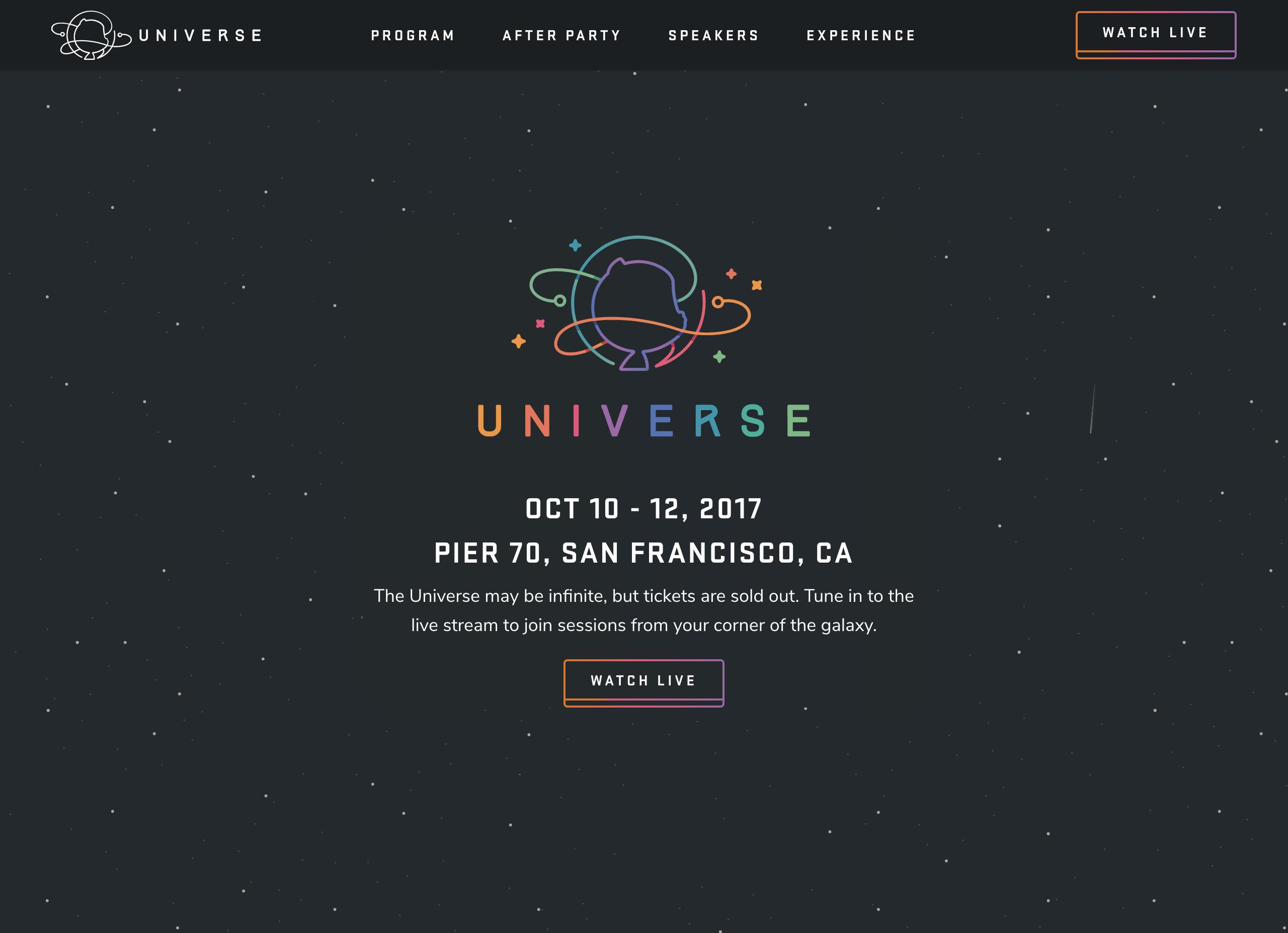 Home   GitHub Universe